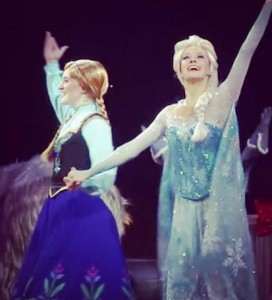 "Taylor Firth as ""Anna"" and Becky Bereswill as ""Elsa"". Photo courtesy of Becky Bereswill"