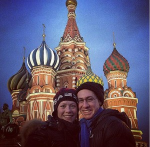 Brown and Ade in Moscow, Russia for Cup of Russia.